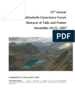 YK Geoscience Forum 2007 Abstracts