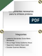Tema 1 Componentes Necesarios Para La Sintesis Proteica