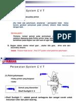 Perawatan CVT (Continous Variabel Transmission)