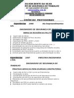 Curriculum Atualizengenheiro Seg. Trab. 2011