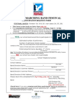 2011 Marching Band Festival Participation Request Form
