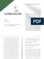 EL MUNDO FRENTE A LA GLOBALIZACIÓN, SABORIDO