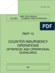 Counter Insurgency Operations UK Army