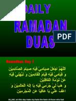 Ramadan Duas  - ppt