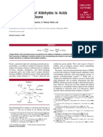 Facile Oxidation of Aldehydes to Acids and Esters With Oxone