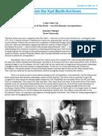 Barth – von Kirschbaum correspondence