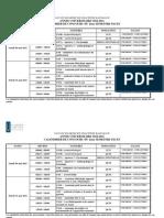 Calendrier de concours 2ème semestre PACES - 972