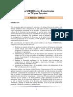 Normas UNESCO sobre competencias en TIC para docentes - I. Marco de políticas