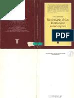 Benveniste Emile - Le Vocabulaire des institutions indo-européenes (1969, edição em espanhol de 1983)