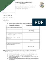 Trabajo Práctico Nº 1 de Matemática ecuaciones