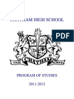 ChathamHighSchoolProgramofStudies2011-12