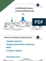 How SCOR Model Enhance Global Sourcing Effectiveness