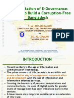 E-GOvernance in developing Countries by S. A. AHSAN RAJON Presentation ICCIT 2008 by S. A. AHSAN RAJON