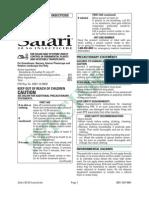 Label -- Safari Insecticide -- USA -- 2007-SAF-0001 Safari 20 SG - Form 1521-B