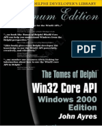 The Tomes of Delphi - Win32 Core API Windows 2000 Edition