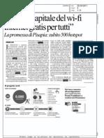 """""""MILANO CAPITALE DEL WI-FI INTERNET GRATIS PER TUTTI""""  (LA REPUBBLICA MILANO)"""