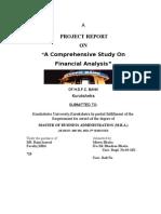 A Comprehensive Study on Financial Analysis