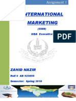 International Marketing Assgn I AIOU