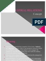 Concept of Industrial Relatons