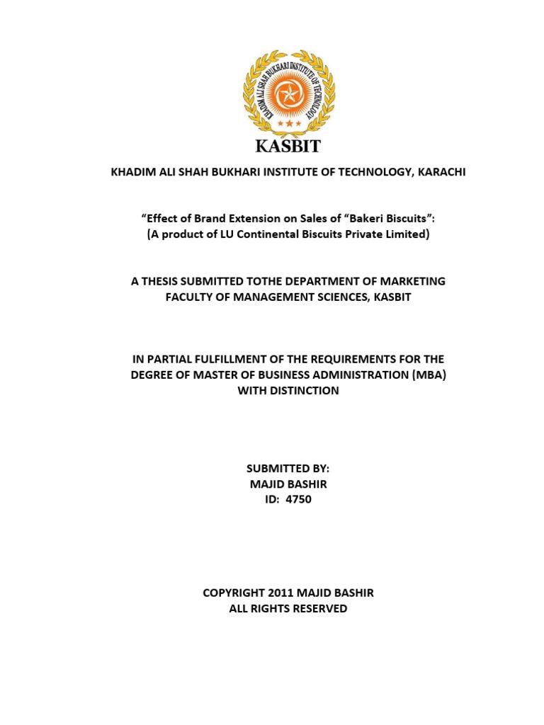 dissertation on branding