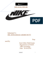 Case Analysis of Nike.by one and only M.A BUTT