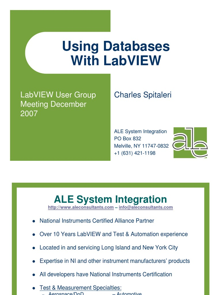 Using databases labview databases sql 1betcityfo Choice Image