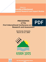 Proceedings of the First International Conference on Environmental Research and Assessment Bucharest, Romania, March 23-27, 2003