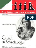 Kritik-Folge Nr. 60 - Savitri Devi - Gold Im Schmelztiegel (1982, 232 S.)