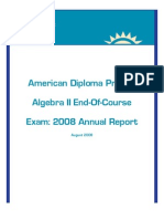 ADP Algebra 2 - End Of Course Exam 2008 - Annual Report - August 2008