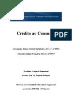 Crédito ao Consumo - Trabalho
