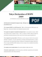 Tokyo Declaration of HOPE(English Version)