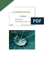 Green Building Building Work Shop Presentation