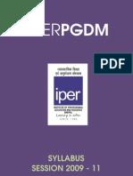 Iper Pgdm- Syllabus
