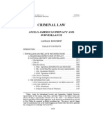 Criminal Law Anglo-American Privacy and Surveillance