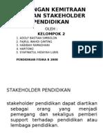 Hubungan Kemitraan Dengan Stakeholder Pendidikan