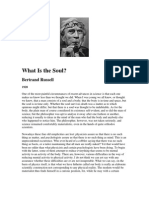 Philosophy-Russell Bertrand-What Is The Soul
