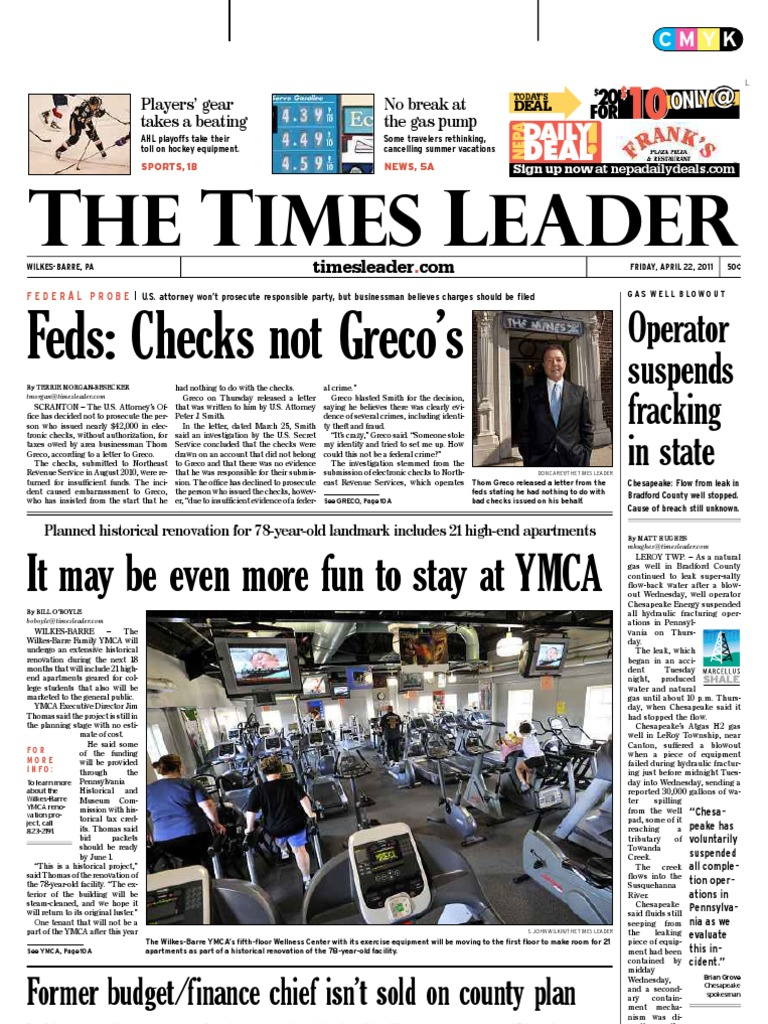 Times Leader 04-22-2011 | Driving Under The Influence | Lottery on