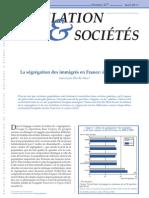 INED La ségrégation des Immigrés en France - Etat des Lieux - Avril 2011