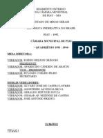 Regimento Interno Da Camara Municipal de Piau - MG