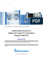 Quality Measurements on Digital and Analog TV Transmitters