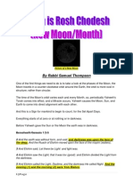 When is Rosh Chodesh, New Moon month?