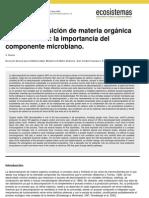 Alvarez 2005 La Descomposicion de Materia Organica en Humedales