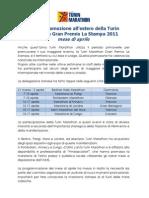 Report promozione all'estero della Turin Marathon Gran Premio La Stampa 2011 mese di aprile