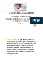 Comunidades Saludables POWER POINT