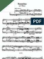 Beethoven Sonatina in F Minor