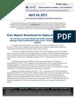 ValuEngine Weekly newsletter April 22, 2011