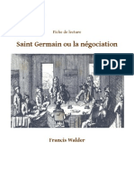 Fiche de lecture Saint Germain ou la négociation-Thomas Bonnecarrere