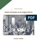 Fiche de lecture Saint Germain ou la négociation-Thomas Bonnecarrere