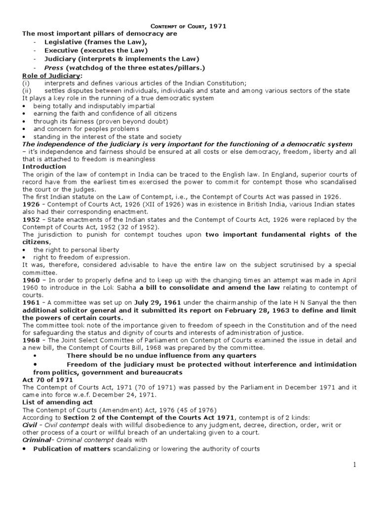 contempt of court act 1971