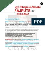 Shajra-E-Nasab (Genealogy)  of Rajput Caste by Ch.S.K.NIAZ and CH.MUKHTAR AHMAD NIAZ CHAK BELI KHAN Managed By Ch.Shaheer Ali Niaz (Mob:923009886001)